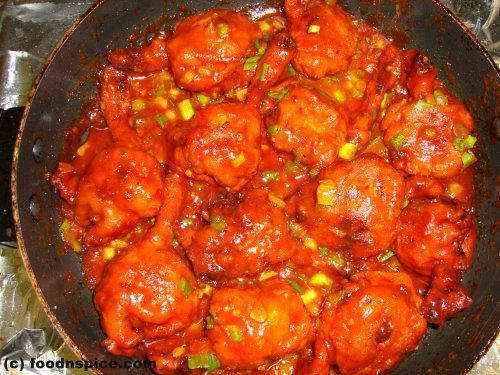 Chicken Lollipop in Schezwan Sauce